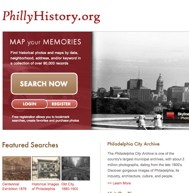 PhillyHistory.org, the photo collection of the Philadelphia City Archive