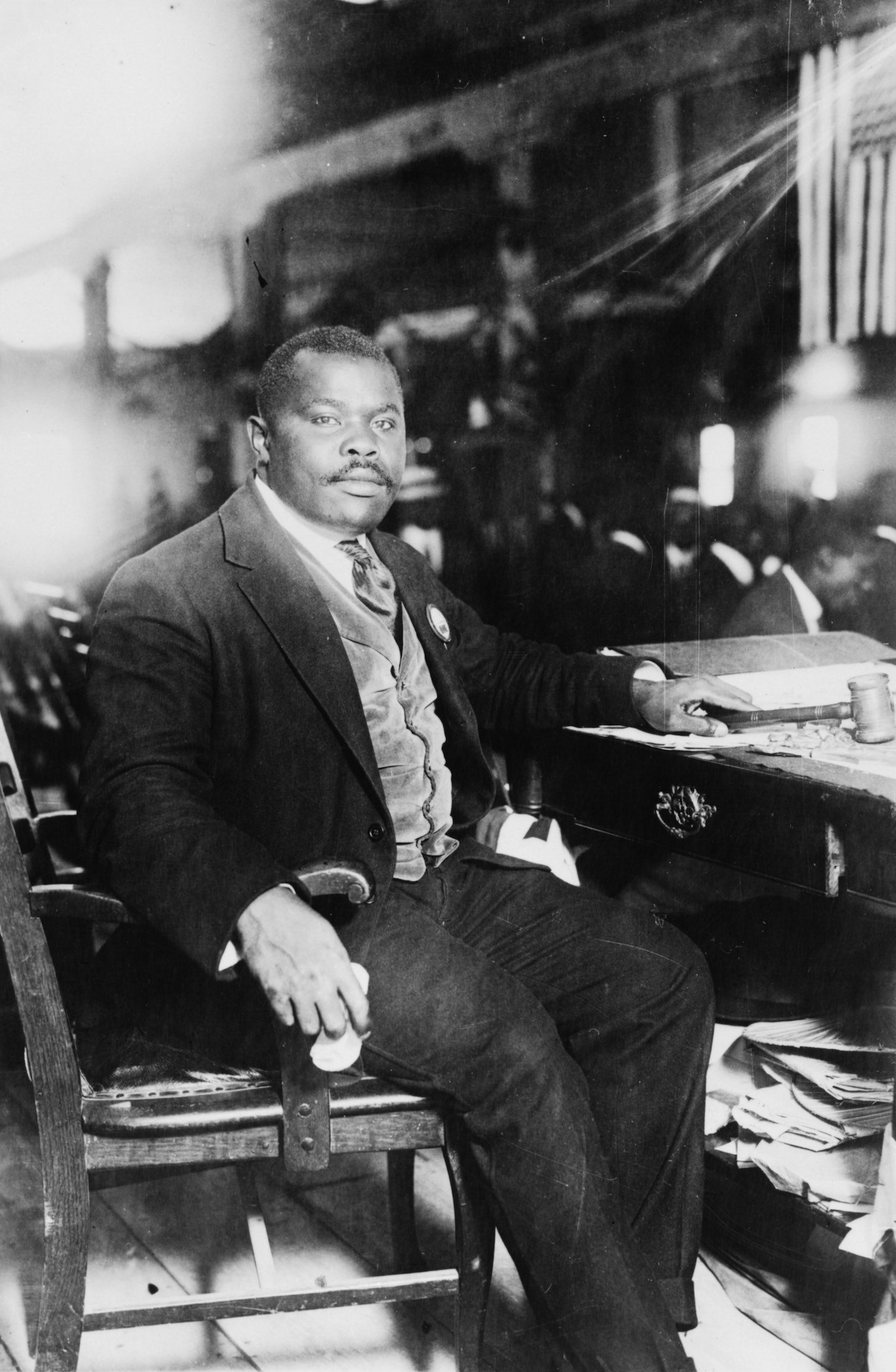 A photograph of political figure Marcus Garvey taken August 5_1924