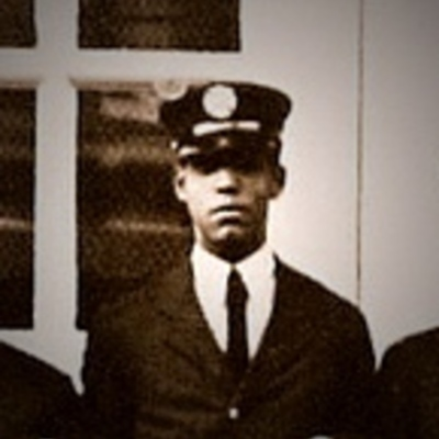African American firefighter Joseph Marshall in uniform, circa 1940.