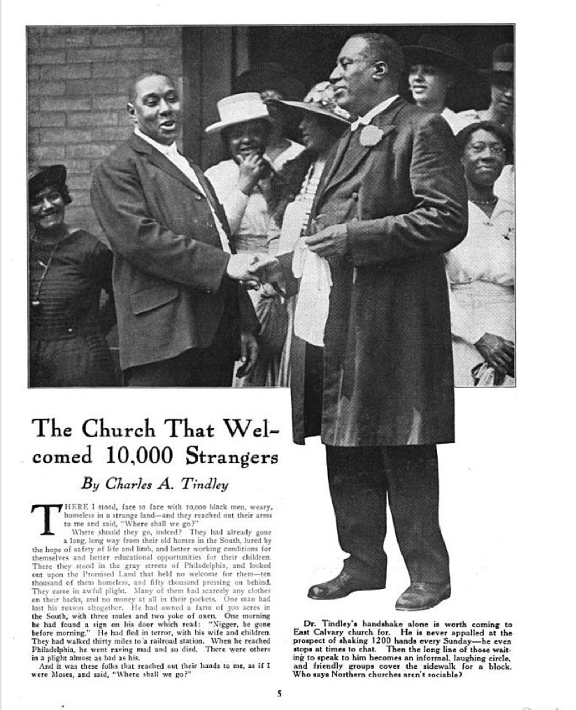 "First page, ""The Church That Welcomed 10,000 Strangers,"" The Outlook, 1919."