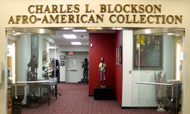 Outside Entrance to Charles L. Blockson Afro-American Collection