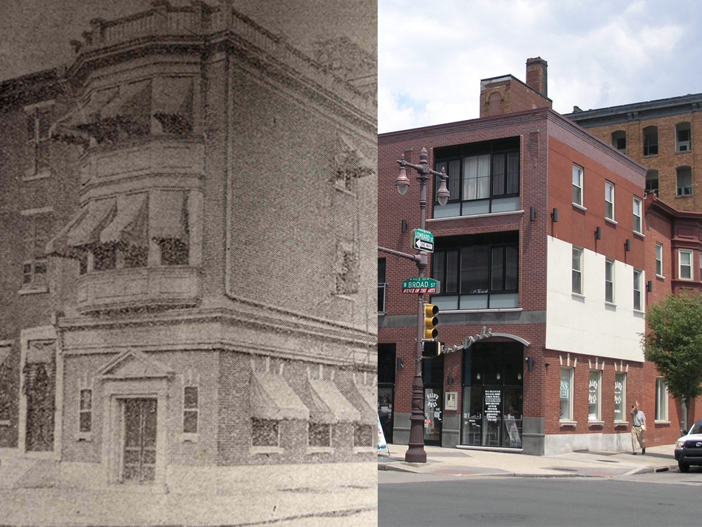 Then and Now, Brown and Stevens Bank, Broad and Lombard Streets