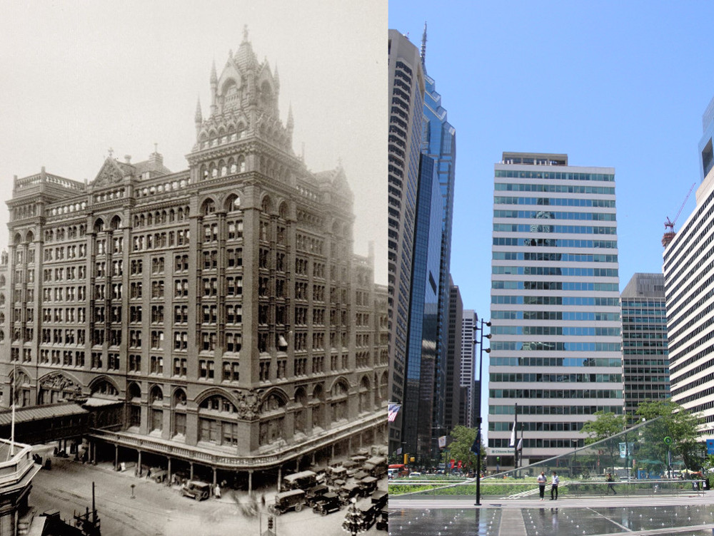 Broad Street Station, then and now