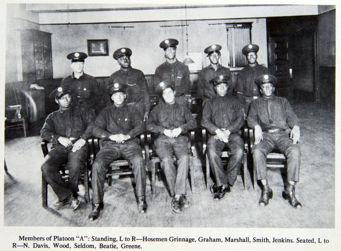 Members of Platoon A of Engine Co. 11, circa 1930