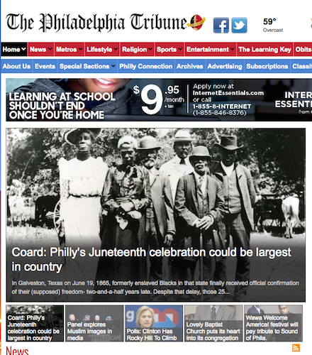The Philadelphia Tribune homepage